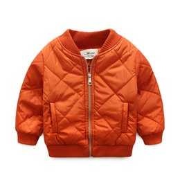 parkas for winter Promo Codes - Spring Boys Coat Bomber Jacket for Baby Kids Windbreaker Winter Overcoat Children's Clothing Parkas Uniform 90-130CM