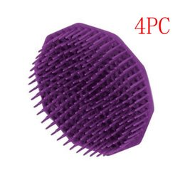 Wholesale Head Scalp Massager Hair Brushes - Silicone Shampoo Scalp Shower Body Washing Hair Massage Massager Brush Comb drop shipping aug29