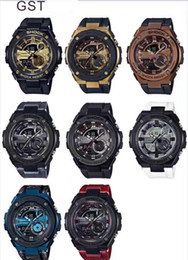 Wholesale g shock style watches - Hot Sale Smart Watches Men G Style Military Army Waterproof Shock Sports Watches Auto Light LED Fashion GST200 Relojes Clock Drop Shipping