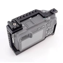 2019 kamera schieberegler großhandel Großhandel Kamera Käfig Stabilisator mit kalten Schuh für Sony A6000 / A6300 / A6500 / ILCE-6300 / ILCE-6500 / NEX7 DSLR Käfig Kit - 505
