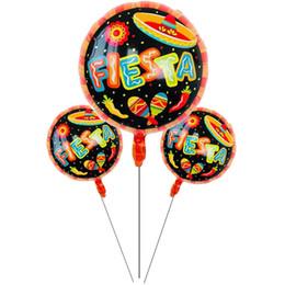 2019 decorações da festa 18 polegadas Espanhol Fiesta Decorações Do Partido Balões Balões Foil Balões de Ar Balões de Ar Festa de Casamento Suprimentos Brinquedos decorações da festa barato