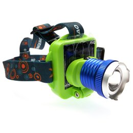 Wholesale Focus Bulbs - CREE Q5 XPE Rechargeable Built-in battery USB solar headlamp focus adjustable headlight sun power head lamp for outdoor camping