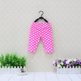 Wholesale Brown Leggings Children - 2018 New Arrival Spring Baby Pure Cotton Long Pants Children Elastic Waist Trousers Calf-length Printed Kids Leggings