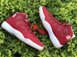 Wholesale Drop Ship Camping - Drop Shipping Retro 11 Basketball Shoes Chinese New Year Air 11S Wishing You Prosperity Sport Sneakers Congratulate You on Getting Rich