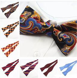 mariposa auto Rebajas Mens auto pajaritas a estrenar 100% seda de lujo llano corbata de moño mariposas Noeud Papillon boda de negocios multicolor