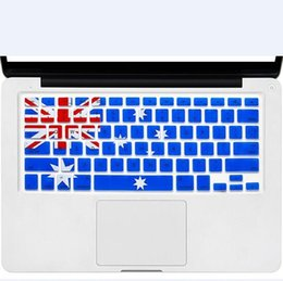 Wholesale Apple Keyboard Uk - Soft Silicone US Canada Australia UK Flag Keyboard Cover Keypad Skin Protector For Apple Mac Macbook Pro 13 15 17 Air Retina 13
