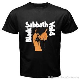 2019 camisas sabáticas negras Impresionantes camisetas Top Men Black Sabbath O-cuello de manga corta camiseta