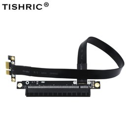 Wholesale Pci Express Cable Extension - PCI-E 1X turn 16X PCI Express Riser 164PIN Card Graphics Card Extension Cord for Mining Machine Patch Cord 100PCS LOT