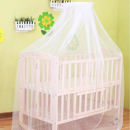 Wholesale Baby Crib Canopy Netting - Summer canopies in cot baby mosquito net white baby decoration room mosquito net for crib (don't include the holder)