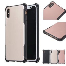 Wholesale Protective Plastic Bumper - For iPhone X 8 Slim Shockproof TPU Bumper Armor Case Durable Lightweight Hard Protective Back Cover for iPhone 7 7 Plus 6