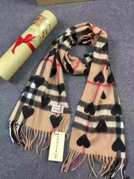 Wholesale Plain Cotton Scarves - HOT 100% Cashmere heart long scarf shawl