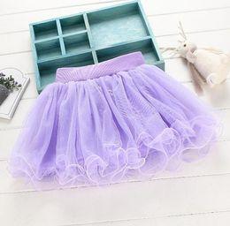 Wholesale wholesale mesh skirts - New kids skirts Girls tutu skirt kids mesh patchwork solid color Skirt princess ballet skirts 3 colors kids clothing