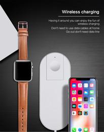 qi chargeur sans fil dock pad de charge Promotion Monobloc Qi Chargeur rapide Charge rapide pour Apple Watch 3 Iwatch Iphone X 8 plus 2 en 1 Adaptateur de dock sans fil rapide