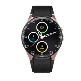 rated cell phones Canada - KW88 3G WIFI Smartwatch Cell Phone Bluetooth Smart Watch Phone Android 5.1 SIM Card Camera Heart Rate Monitor GPS Watch
