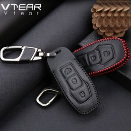Wholesale Ford Ecosport - for Ford Focus Ecosport Kuga edge Fiesta mondeo exploror mustang key case cover chain ring cover interior car-styling part