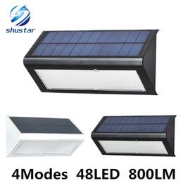 Высокое качество яркость 4 Modse 800LM водонепроницаемый 48 LED солнечный свет 2835 SMD Белый солнечной энергии Открытый сад от