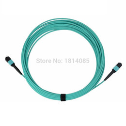 Wholesale Optic Cord - MPO-MPO 3M 12cores multimode 10G OM3 fiber optic patch cord MPO OM3 12core Indoor pre connected optical cable