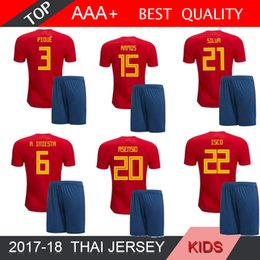 e3320f4ac 2018 2019 World Cup Spain Soccer Jersey Kids Kit 18 19 Home Red Football  Shirt MORATA ISCO Child Soccer ASENSIO SERGIO SILVcamiseta de fútb