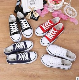 Wholesale Clay Girl - 2018 Hot kids canvas shoes fashion high - low shoes boys and girls sports canvas children shoes