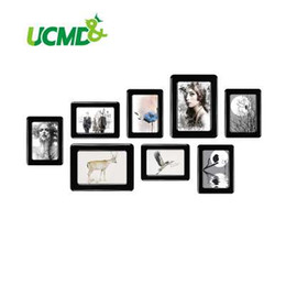 """Wholesale framed wall decor sets - Magnetic Photo Frame With Adhesive Crystal Surface 6"""" X 4"""" 7"""" X 5"""" For Kids Room Wall Decor Magnet Picture Frame 8 Pieces   Set"""