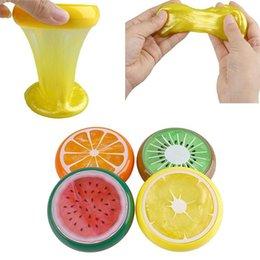 material de juguetes de espuma Rebajas Inteligente de la mano de goma de plastilina Pladough regalo nuevo bebé juguetes Crystal Fruit magnético coloreado