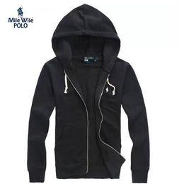 Wholesale Hood Men S Hoodies Cardigan - hoodies Wholesale-Free shipping 2018 new polo hoodies brand men sweatshirt with a hood Cardigan outerwear men Fashion hoodie High quality