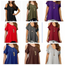 Wholesale Loose Off Shoulder Tops - European Style Women Round Neck Off Shoulder Fishtail Hem Short Sleeve Stretch T Shirt Maternity Tops tees Loose Blouse