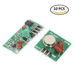 Wholesale 433mhz transmitter receiver module - 10PCS 433Mhz RF Transmitter with Receiver Kit Transmitter and Receiver Module