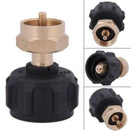 Wholesale adapter regulator - Outdoor Picnic Barbecue BBQ Cooking Gas Propane Regulator Valve Propane Refill Adapter Stove Accessorie Heat Resistant Convenient 18yh ddWW