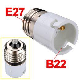 Wholesale B22 E27 Lamp Holder - Jiguoor E27 To B22 Lamp Holder Converters Fitting Light Lamp Bulb Adapter Converter