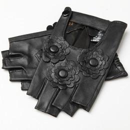 Wholesale Goatskin Gloves - Genuine Leather Gloves for Women Spring 2017 New Fashion Ladies Autumn Fingerless Unlined Glove Goatskin Mittens Driving Gloves
