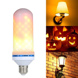 Wholesale bead room - LED Flame Effect Fire Light Bulb E27 LED Flickering Lamp Beads Simulated Decorative Light Atmosphere Lighting Vintage Flaming Upwards