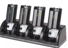 2019 controlador de ventilador de enfriamiento 4 paquetes de batería recargables de 2800mAh + estación del soporte del muelle de carga para WII Remote