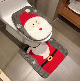 2019 feliz natal 7 Estilos de Decoração de Natal Feliz Boneco de Neve Elk Santa Tampa Do Assento Do Toalete Conjunto de Banheiro Tapete Melhor Feliz Natal Decorações Presentes feliz natal barato