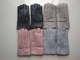 2019 luvas de moda de dedo Moda Estilo Feminino Metade do Dedo Luvas Lã Confortável Qualidade Mulheres Luvas De Pele luvas de moda de dedo barato