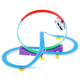 Wholesale model car kits children - Track Racer Car Rail DIY Toy Set for Children Car Rail DIY Model Building Kits Toy Set For Children Track Set That Features 360 Degree