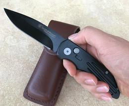 Wholesale Mini Folding Blade - wholesale smith wesson folding knife automatic knives 4styles Mini pocket knife Cowskin scabbard 1pcs Free shipping