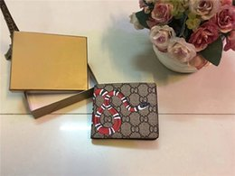 Wholesale Leather Card Purse - Men Brand Designer G Wallet Square G Wallets Luxury Leather Purse Women Top Quality Money Purse With Coin Pocket & Card Holder 11