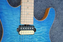 électrique réel Promotion Livraison gratuite de haute qualité guitare bleu 24 f, vente en gros et au détail des stocks d'usine, guitare électrique à double onde, vraies photos guitarra guita