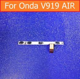 "Wholesale Quad Switch - Wholesale- Original switch on off Power Volume button Flex cable For Onda V919 air V989 AIR Quad-Core 9.7"" conductive flex cable + sticker"
