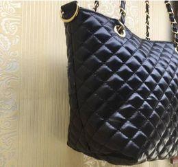 sacos de corrente acolchoados Desconto 2018 Classic acolchoado cadeia saco de ombro moda saco PU 2 cor logo padrão saco de compras