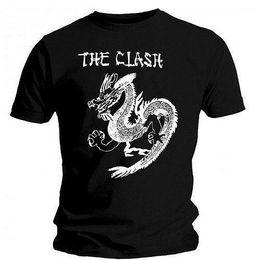 Футболки бренды фарфор онлайн-The Clash - China Rocks (Dragon) - Официальная мужская футболка Мужская футболка модного бренда 2018 Топы с круглым вырезом 100% хлопок Футболка Топы, изготовленные на заказ