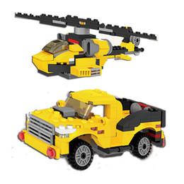 Bloques de robot online-Bloques de ladrillos Compatible DIY Puzzle 3 en 1 Robot Coche Avión Juguetes Niños Ensamblaje educativo Partículas pequeñas Bloques de construcción