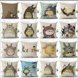 Arredamento totoro online-Originalità Lino Federa Cartoon Totoro Comodino Cuscino Auto Divano Home Decor Pillowslip Alta qualità 5 5 Ww