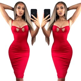 Wholesale Sexy After Dresses - Gules Straps Adjustable After The Holiday Vent Sexy Dress