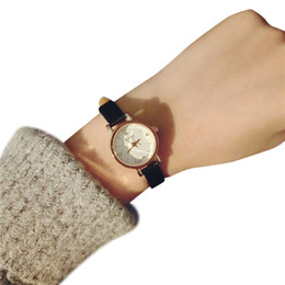 Wholesale Girl Hour - Quart Watches Fashion Leather Strap Unisex Watches Lovers Hours Clock Women Small Dia Girl Montre Femme Relogio Relojes
