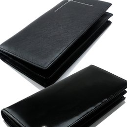 Wholesale International Cards - Men's new luxury fashion MB genuine leather wallets business card case black long card holder international classics credit card wallet