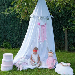 Wholesale princess kids bedding - Children Hung Dome Mosquio Net Princess Tent For Kids Play House Baby Playpen Infant Room Dome Hammock Tent Bed Curtain