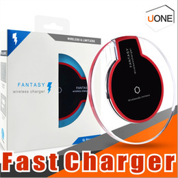 Wholesale apple wireless pad - Qi Wireless Charger Fast Charging For Samsung S9 Note 8 S8 Plus S7 Edge Iphone X 8 8plus Fantasy High Efficiency pad with retail package