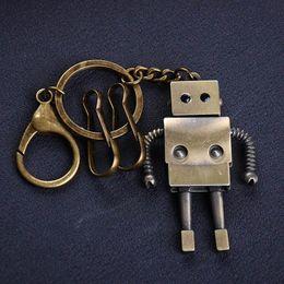 Wholesale Robot Keychain Metal - 18 kinds Vintage alloy Charm Jewelry llaveros unique retro punk rock Robot Key holder Animal creative Keychain Auto Key Chains